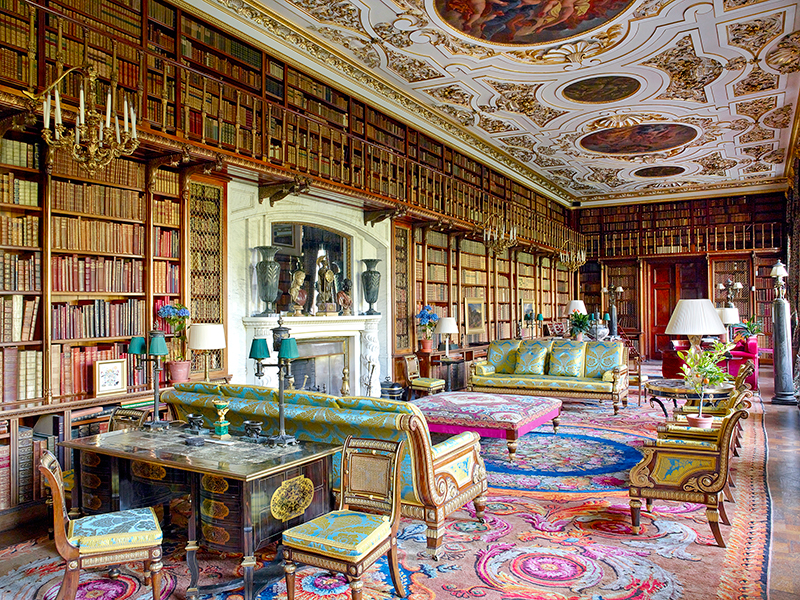 The library at Chatsworth House