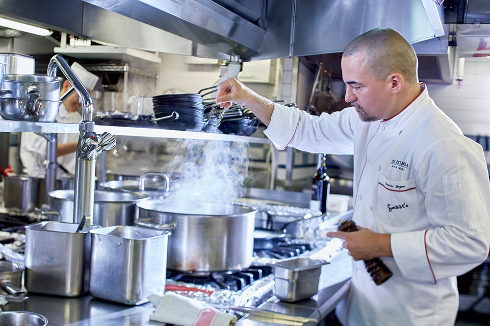 Get a front row view of the kitchen from Gaddi's Chef's Table