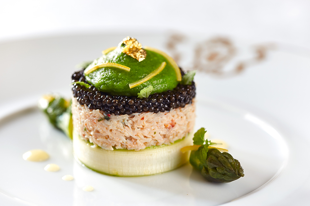 French Imperial caviar with Brittany crab meat
