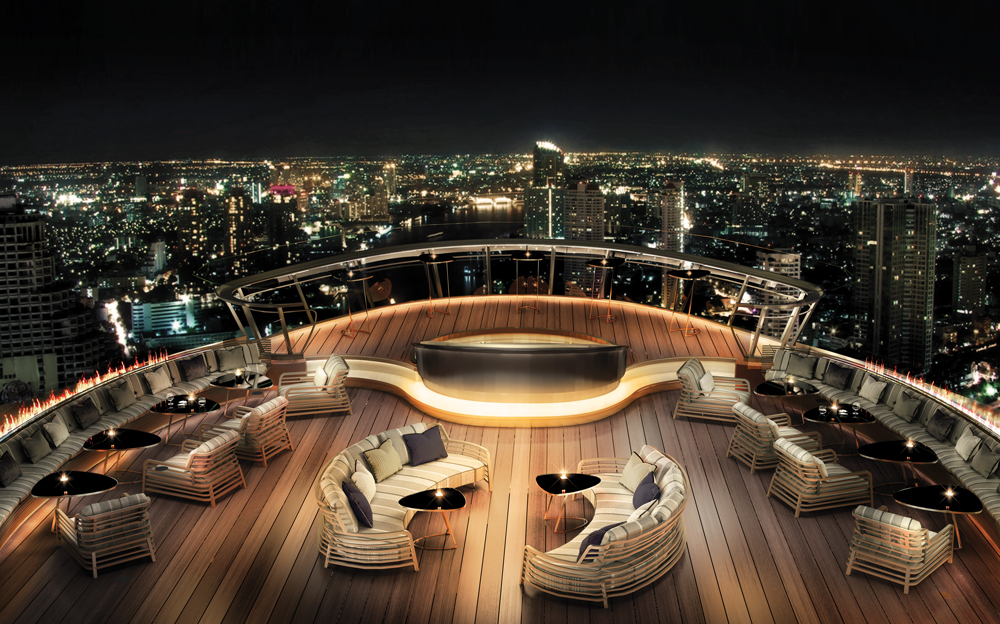The newly opened Alfresco 64 - A Chivas Bar at Bangkok's Lebua Tower Club