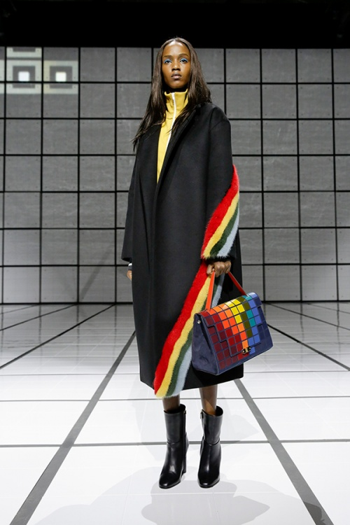 A look from the Anya Hindmarch autumn/winter runway show
