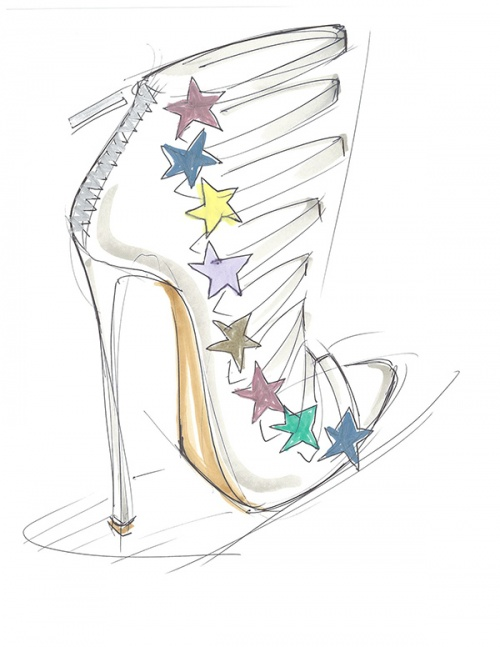 Sketch for Katy Perry Footwear, courtesy of Global Brands Group