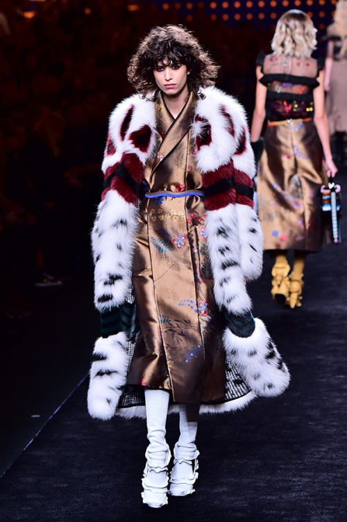 Fendi does fur (Credit: Giuseppe Cacace / AFP)