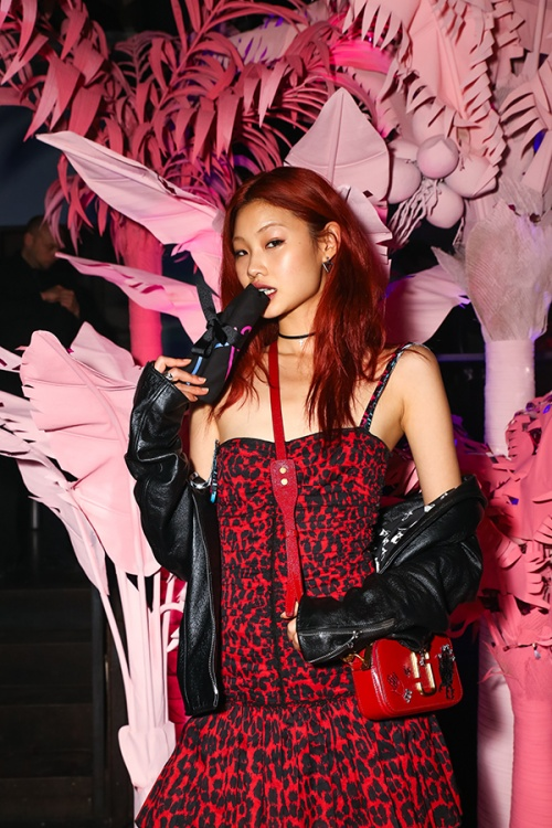 Korean model Hoyeon Jung at the #marcthenight party