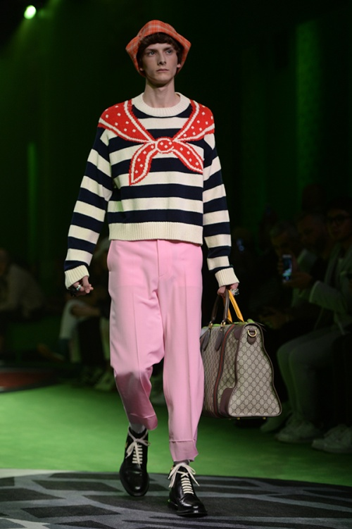A look from the Gucci runway in Milan (Credit: AFP Photo)
