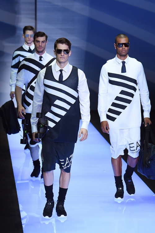 Looks from the Emporio Armani runway in Milan (Credit: AFP Photo)