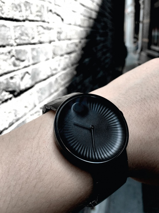 Yves Bahar designed the Movado Edge based on the the brand's iconic Museum Dial
