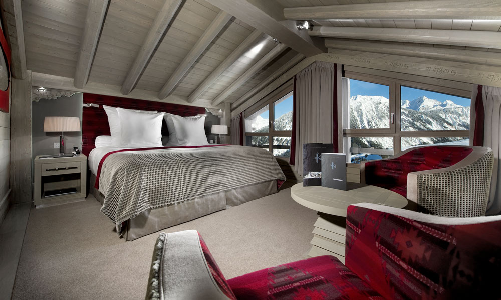 Escape to the Chambre Suite Broad Peak after a long day on the powder