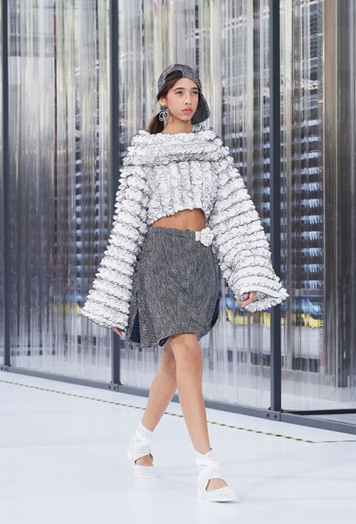 With sleeves, it's go big or go home this year (Courtesy: Chanel)