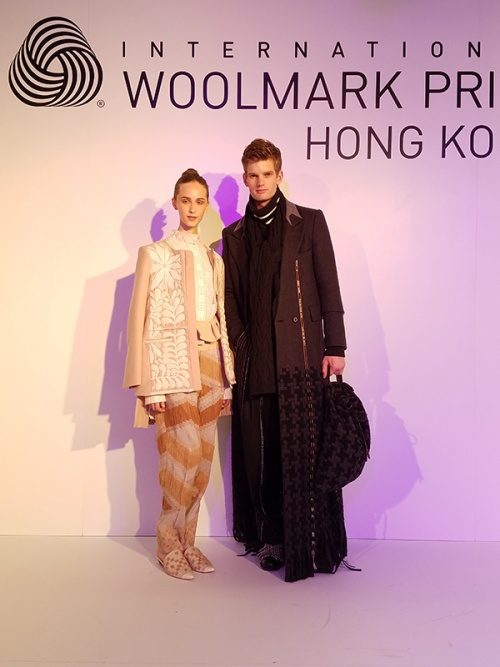 The winners of the 2016/17 International Woolmark Prize Asia Regional Final held at PMQ in Hong Kong this year are womenswear designer, Toton, from Indonesia (his winning look is on the left) and menswear designer, Munn, from Korea (his winning look is on the right)