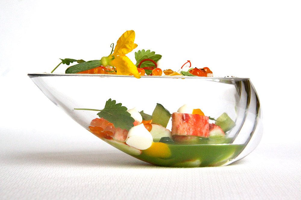 Alaskan King Crab, kalamansi, cucumber and lemon balm