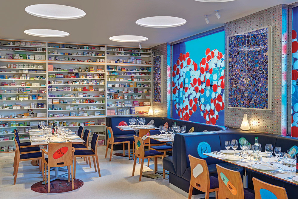 Damien hirst re opens pharmacy restaurant hashtag legend