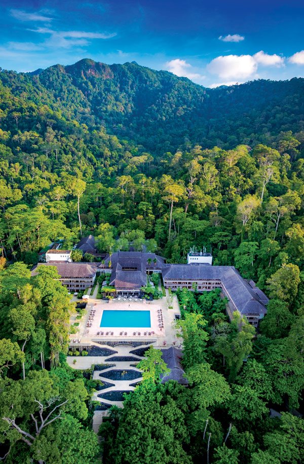 The view of The Datai Langkawi from above