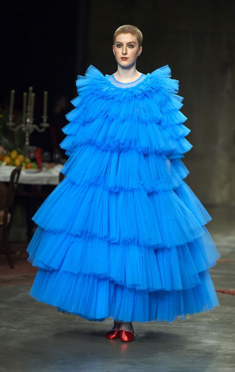 Larger than life frills at Molly Goddard (photo c/o AFP)