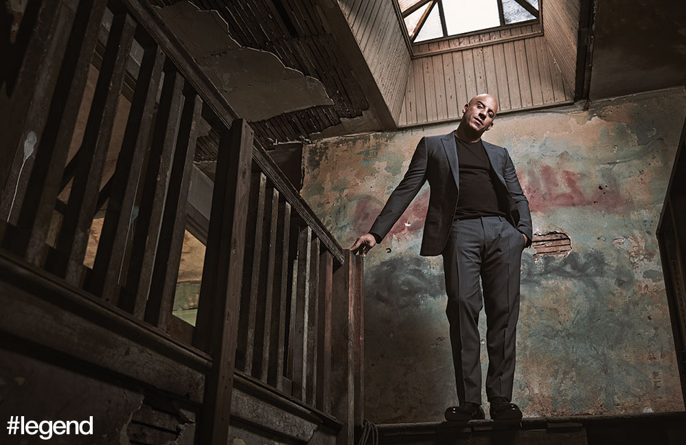 Suit by Dolce & Gabbana, t-shirt by Richer Poorer
