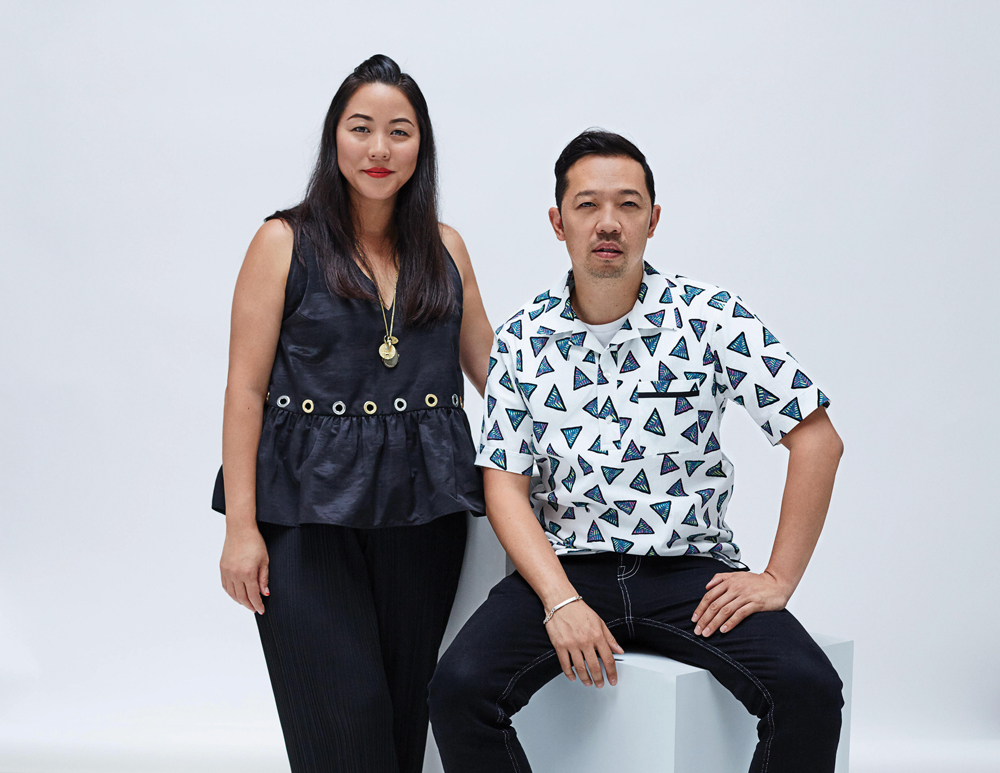 Designers Carol Lim and Humberto Leon, Kenzo's collaborators