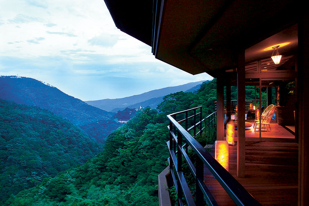 The picturesque view at the Hakone Ginyu ryokan