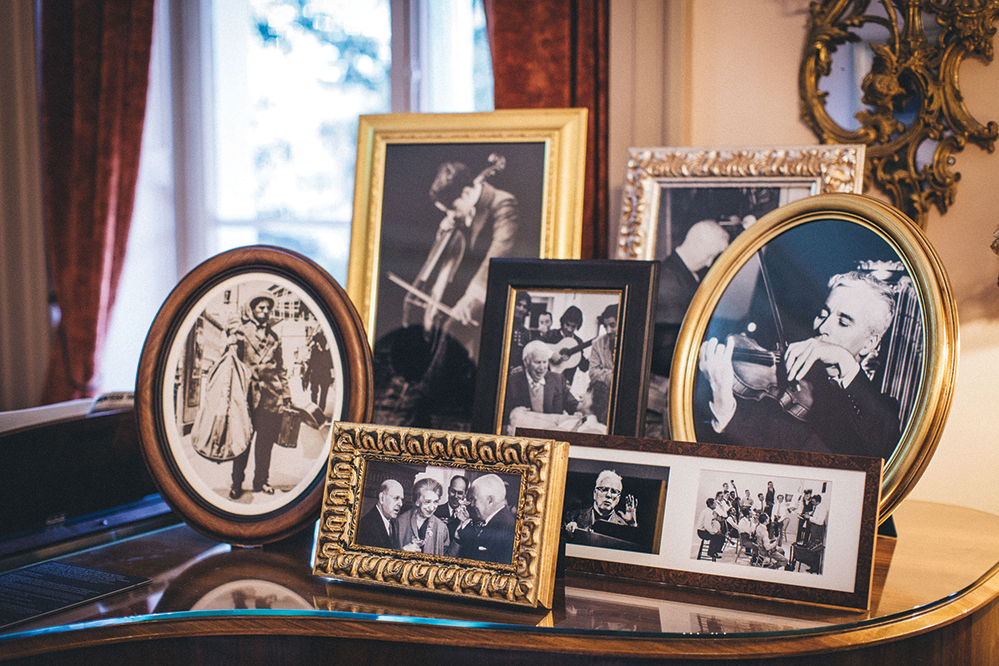 Photographs and mementos from the Manoir part of the museum