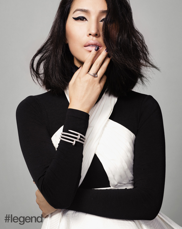 Top by Johanna Ortiz at NET-A-PORTER, Bodysuit by Wolford at NET-A-PORTER, Jewellery by Cartier