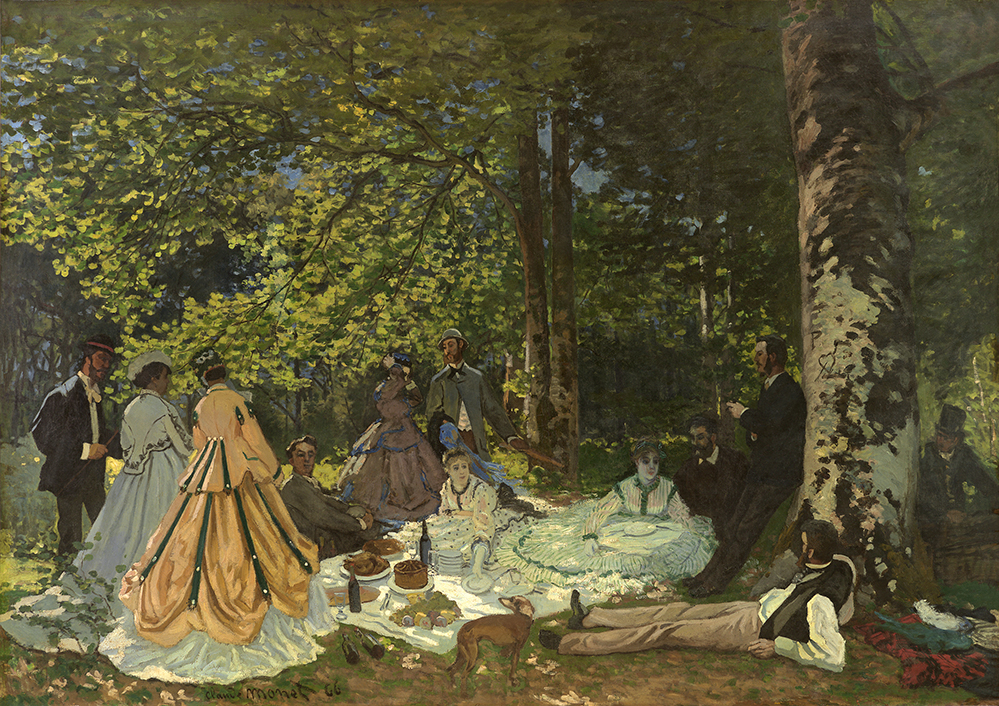 Le Dejeuner Sur L'Herbe (1866) by Claude Monet (Credit: 2016 Fondation Louis Vuitton)
