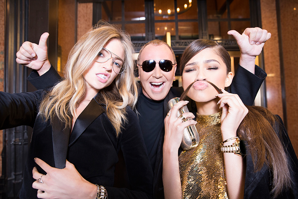 Martha Hunt, Michael Kors and Zendaya