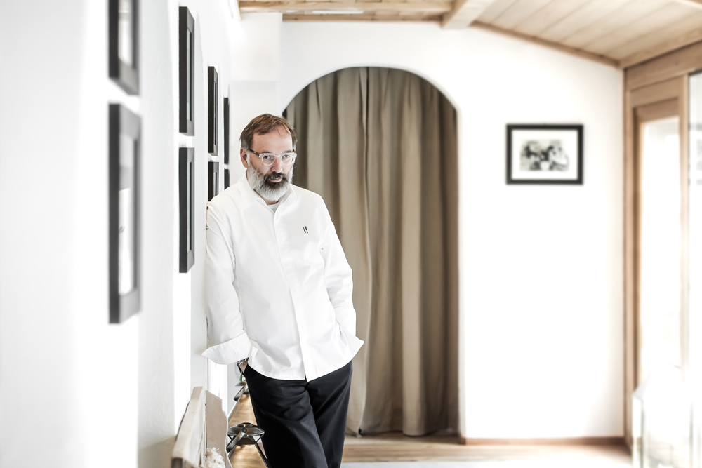 Norbert Niederkofler of two Michelin-starred Restaurant St. Hubertus, Italy
