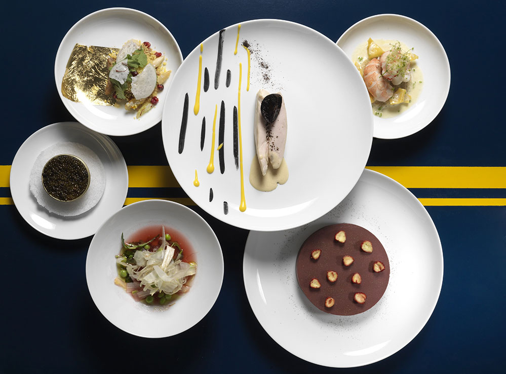A five-course meal awaits diners on board La Table Orient Express (Credit: Thomas Duval)