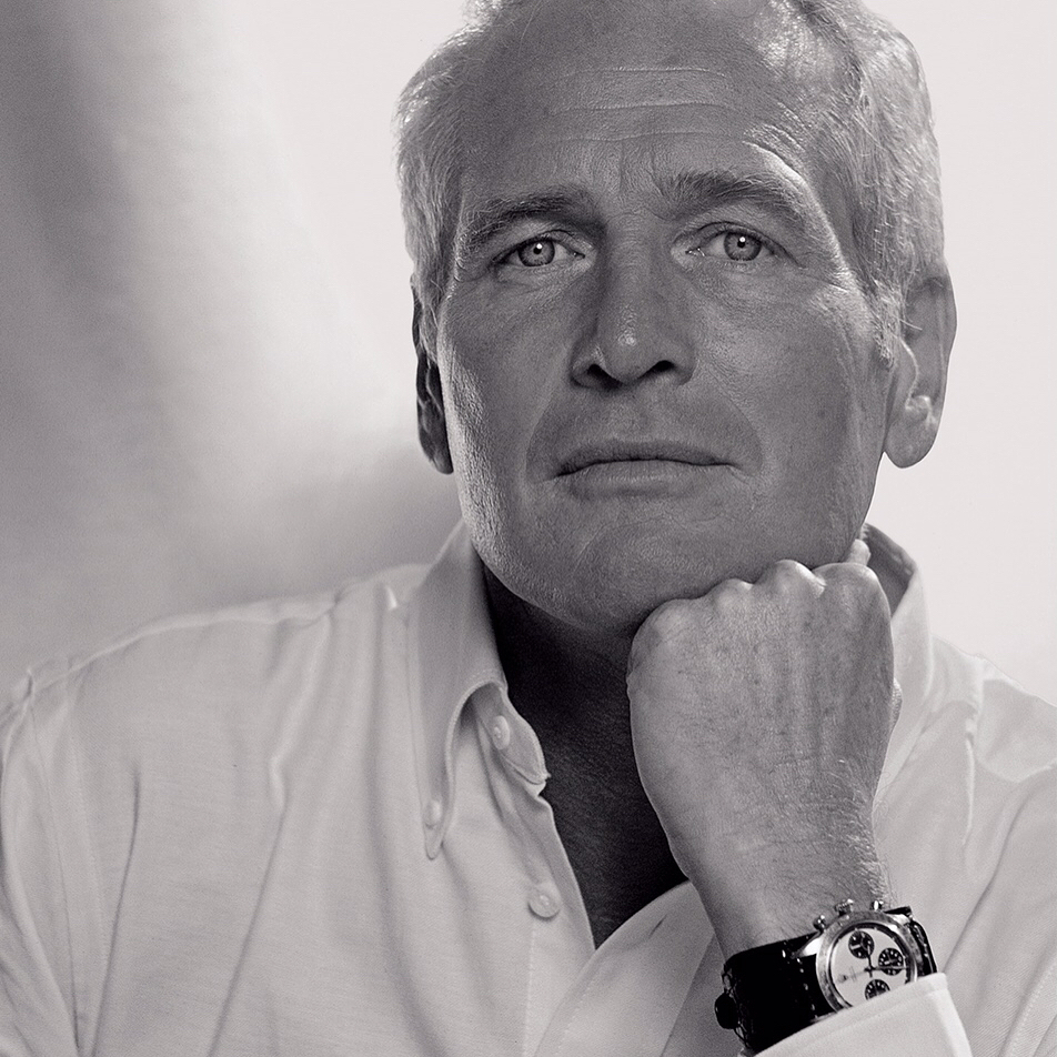 Paul Newman pictured wearing his Daytona (Courtesy of Instagram @phillipswatches)
