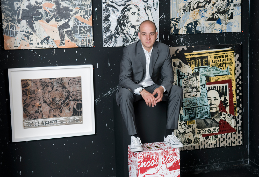 Art dealer and curator Steve Lazarides