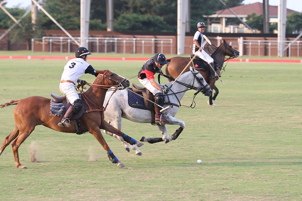 Polo team captain Patrick Furlong in action