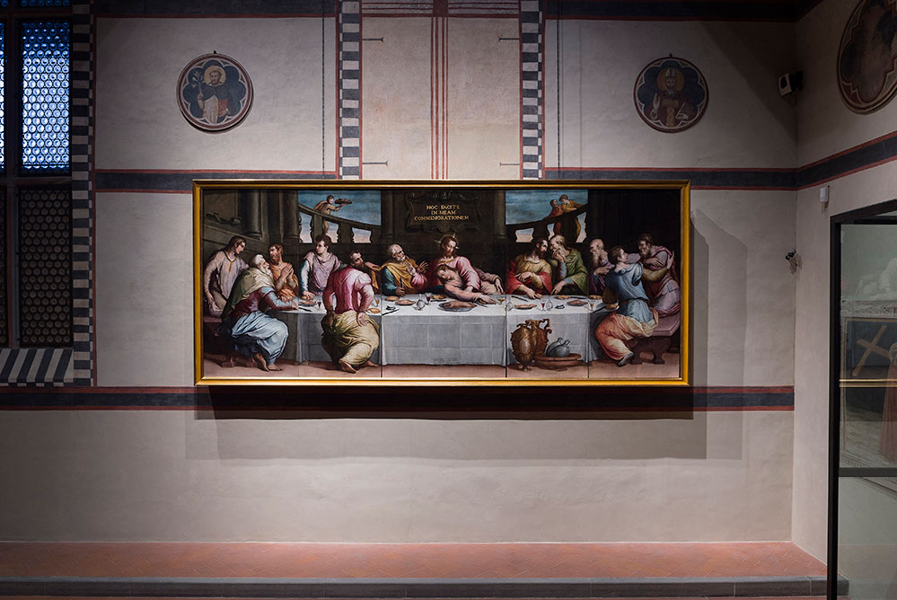 The restored work now hangs at its original place at Santa Croce