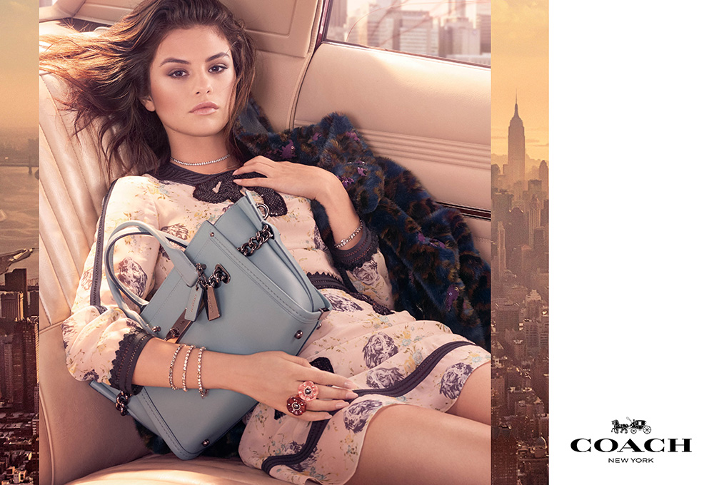 Selena Gomez stars in her first campaign with Coach