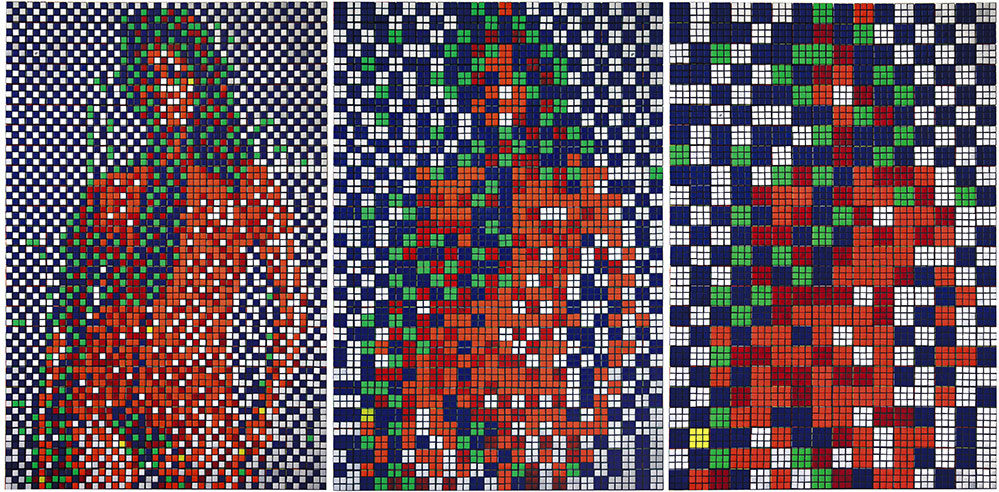 Rubik James Bond Girl by Invader
