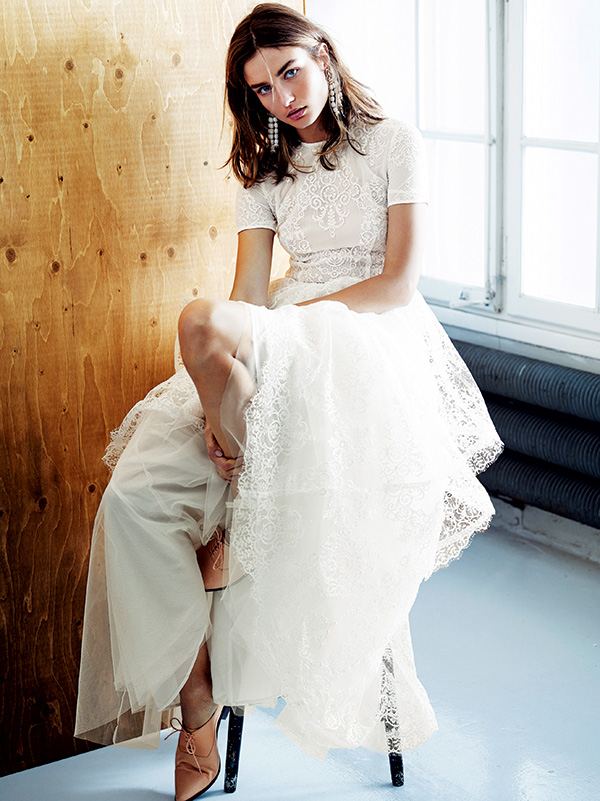 An H&M Conscious Fashion wedding dress that was worn by Chinese actress Shu Qi in her high-profile wedding photos