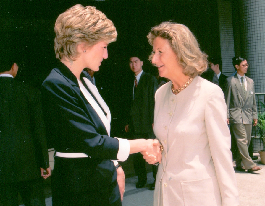Lo with Princess Diana