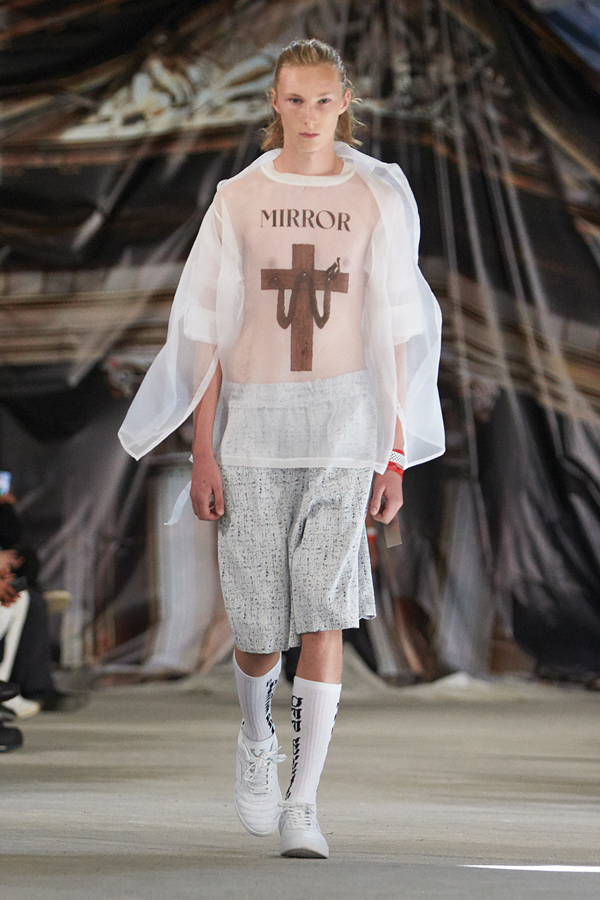 A look from Abloh's SS17 Men's Collection