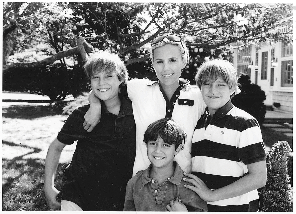 Tory Burch and her three boys