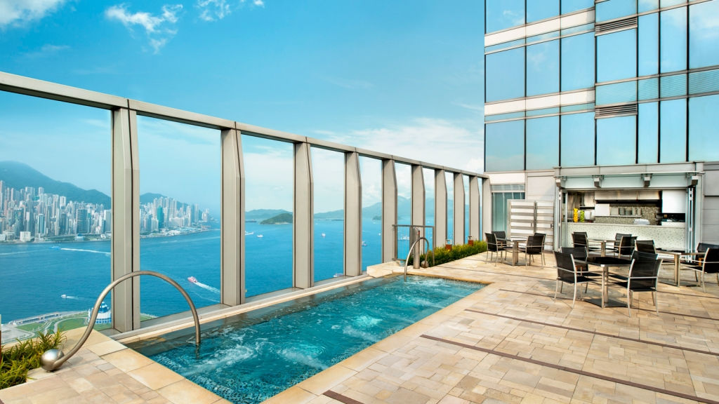 The Jacuzzi on the WET DECK at W Hong Kong hotel