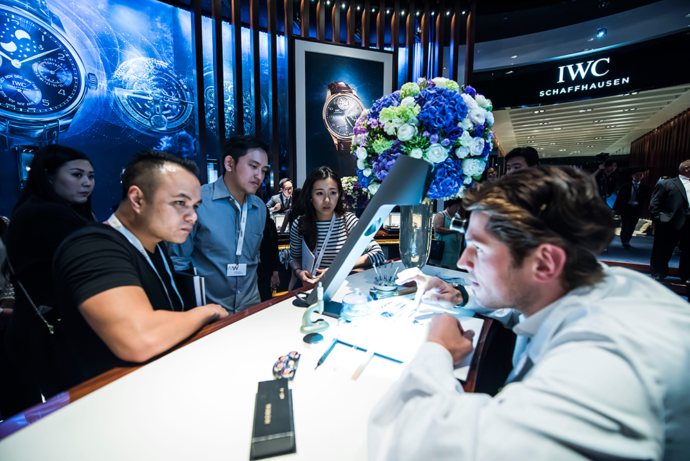 IWC exhibition booth at Watches and Wonders 2015 (Credit: IWC Schaffhausen)
