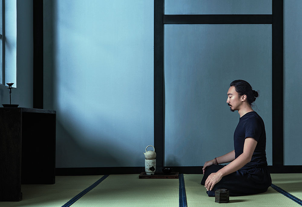 A self-portrait during a deep meditation (Photo by Yin Chao)