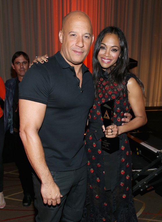 Our cover stars Vin Diesel and Zoe Saldana at the NALIP Latino Media Awards