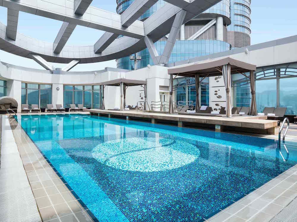 Start your day with a local breakfast in Mong Kok before heading up to this lush pool.