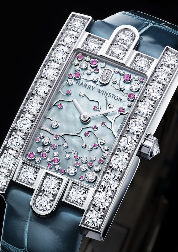 A beautiful representation of nature and Harry Winston's classic design
