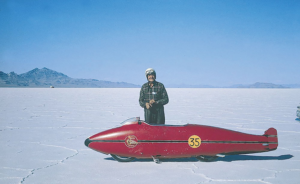 Burt Munro and his Indian motorcycle