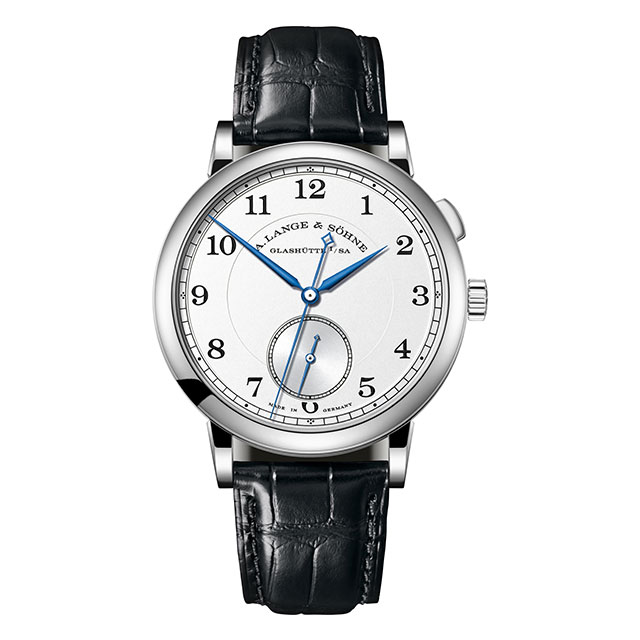 The watch in white gold
