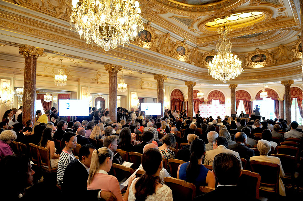 The auction room at Only Watch 2013 in Monte Carlo