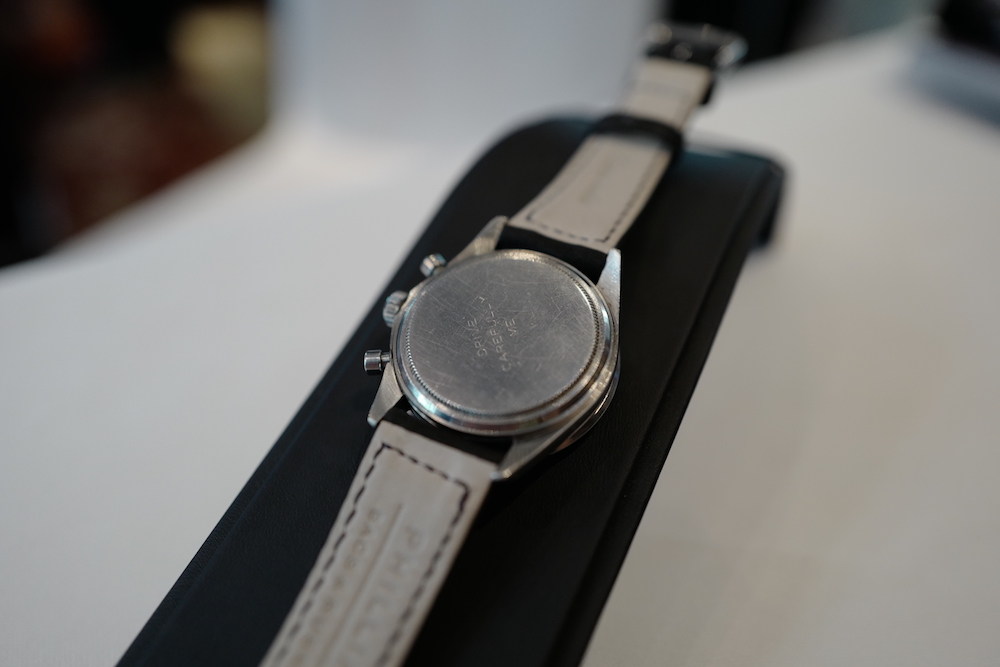 "The watch is engraved with an inscription by Paul Newman's wife, which reads ""Drive Carefully Me"""