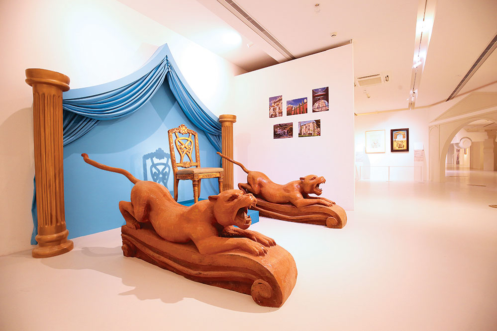 A K11 exhibit replicating the home of artist Salvador Dalí