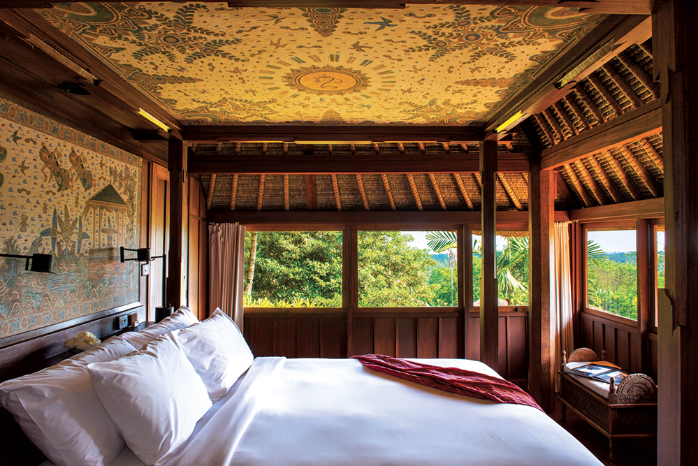 An Amandari suite, above the Ayung River Gorge