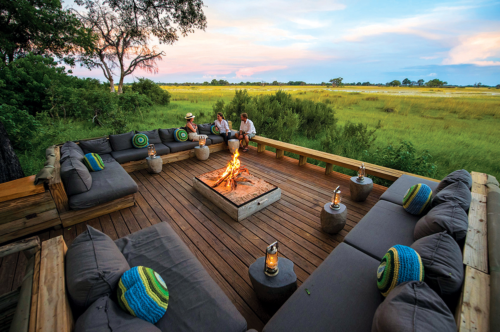 Observe Botswana's wildlife from the comfort of the camp at Vumbura Plains